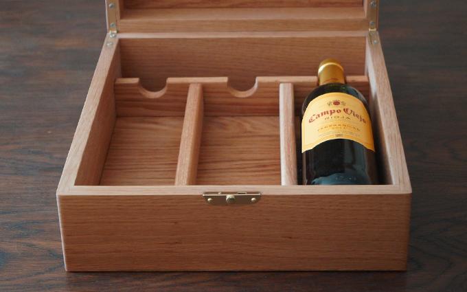 Вино в деревянном ящике подарок 56