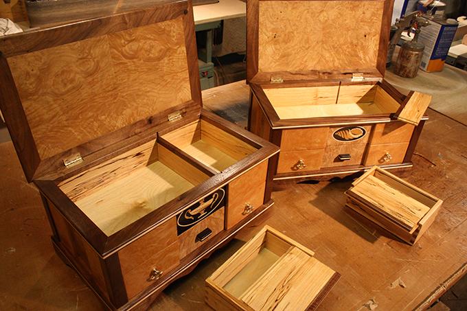 Деревянные ящики для вина